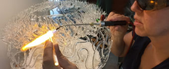 Glass Coral Sculpture from the Torch