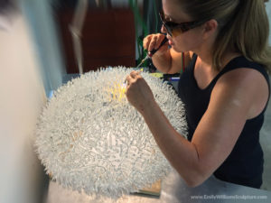 Sculpting Glass Coral Strands